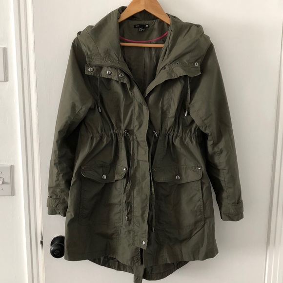 e7703bad5e3e3 H&M Jackets & Coats | Hm Army Green Hooded Maternity Jacket | Poshmark